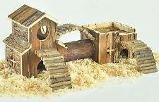 Hamster Gerbil Toys Natural Living Tunnel System Habitat Activity Bridge