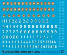 Peddinghaus  1/72 1190 UDSSR Zeichen Nummern und taktische Zeichen