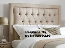 """TOP QUALITY  LUXURY SPECIAL Button BW  BED HEADBOARD IN TURIN FABRIC 30"""" TALL"""