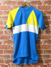 VTG Le Coq Sportif Cycling Bicycle Athletic Top L Half Zip Poly Cotton USA made