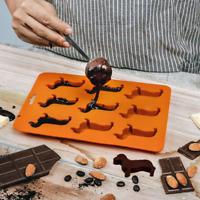 Animal 9-Slot Dachshund Sausage Dog Shape Mold Ice Chocolate Mould Tray