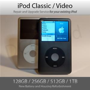 iPod Classic Upgrade and Refurbishment SERVICE | 128GB 256GB 512GB 1TB