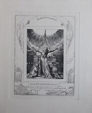 William BLAKE - L'ascension de Job - Gravure N&B - Livre de Job  - Bible #1902