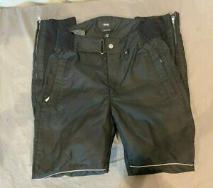 BMW Motorrad Savanna Heavy Duty Black Nylon Motorcycle Pants US 40L EXCELLENT