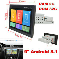 Android 8.1 2+32G Car Stereo Navigation GPS Radio Head Unit Mirror Link 1 Din