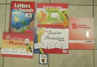 Abeka K5 Lot Kindergarten Home School Books Curriculum Cursive Formation