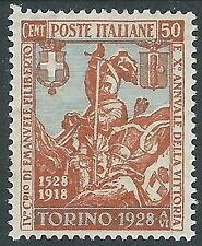 1928 REGNO FILIBERTO VITTORIA 50 CENT MH * - CZ25-4