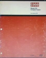 Case 210 Compact Lawn & Garden Yard Mower Riding Tractor Parts Manual 70pg 1973