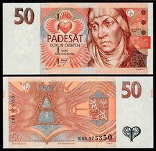 CZECH REPUBLIC 50 KORUN 1997 P17 UNCIRCULATED