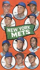"""1969 NEW YORK METS TEAM PLAYER 8 1/2"""" X 11"""" COLOR PRINT POSTER WITH TOM SEAVER"""