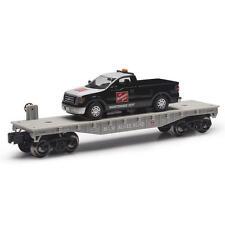 Railroad Train Flatcar Milwaukee Road With F150 Maintenance Truck O Gauge