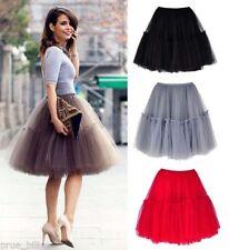Full Knee-Length Solid Skirts for Women