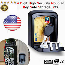 New listing 4 Digit Password Combination Key Safe Security Storage Box Lock Case Wall Mount