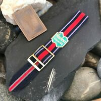 18mm Perlon 1960s Vintage Dive Watch Band NOS Military Regimental Strap