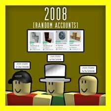 [ROBLOX] 2008 Random Accounts 0 - 10K