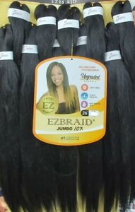 "EZBRAID Professional Innocence Braiding Hair 26"" x 10 Prestretched JUMBO"