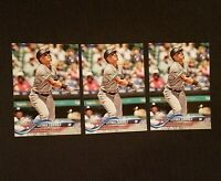 LOT of (3) GLEYBER TORRES 2018 TOPPS UPDATE ROOKIE ALL STAR  #US99
