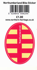 Official Northumberland Flag Bike Sticker