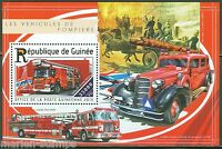 GUINEA  2015 FIRE ENGINES SOUVENIR SHEET  MINT NH