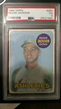 Reggie Jackson RC Topps 1969 #260 stunning card; perfect centering