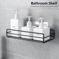 Wall Mounted Shower Gel Shampoo Holder Storage Rack Bathroom Shelf Organizer