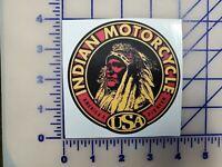 Vintage Indian Motorcycle USA Logo Vinyl Decal 4 inch