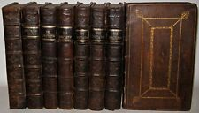Leather Set; THE SPECTATOR! Rare FIRST EDITION;Printed 1712! LARGE PAPER.Addison