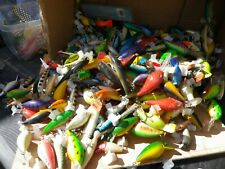 50 PLASTIC PLUG LURES  fishing pike perch chub lure bait trout  rattlers