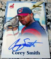 COREY SMITH 2000 Bowman #1 Draft Pick Auto Rookie Card RC Cleveland Indians