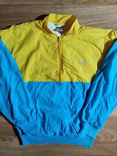 Puma 90's Vintage Mens Nylon Tracksuit Top Jacket Yellow Blue