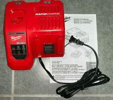 GENUINE Milwaukee M12 M18 RAPID CHARGER 48-59-1808 for Lithium-Ion Bats *NEW*