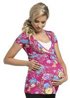 Zeta Ville - Women's Maternity Nursing Wrap Front T-shirt Top Shirt S-3XL - 373c