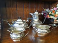 Good Vintage Four Piece Silver Plated Tea Service