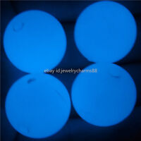 13840 10PCS Blue Glow in the dark 18mm Acrylic Loose Beads Spacer Bead Glow Bead