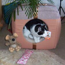 Katzen Liegehöhle Katzenhaus Schlafplatz Schlafhöhle Kuschelhöhle Bett + Kissen