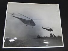 Press foto ATOMIC maneuvers Marine Corps 1953 giornalismo VINTAGE Nevada RAR