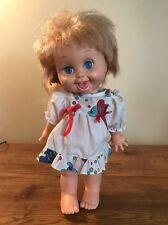 Galoob Baby Face Doll So Playful Penny #10 Honey Blond Blue Eyes