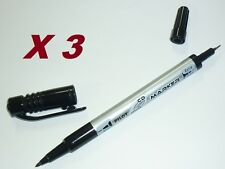 x3 Pilot SCA-TMCD CD DVD permanent marker twin tip fine extra fine Black 603671