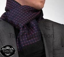 Brand New Mens Cashmere Smart Silk Italian 100% Soft Warm Scarf Double Side Xmas