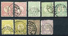 NEDERLAND 30/33 gestempeld 1876-1894 - Cijfer