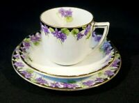 Beautiful Royal Doulton Violets Trio