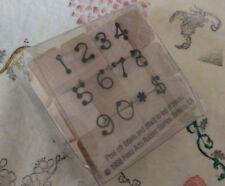 Hero Arts Wood Mounted Rubber Stamp Vintage 1988 Dot Number Set