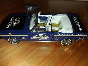 Danbury Mint 1966 Ford Mustang Baltimore Ravens Team Car 1/24 (Mint)