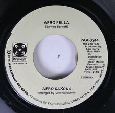 Soul 45 Afro-Saxons - Afro-Pella / You Can'T Kill A Fish With Water On Paramount