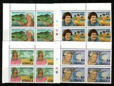 Dominica Scott 758-61 Mint NH blocks