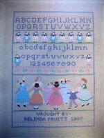 A Girl's First Sampler dancing cross stitch pattern