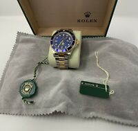 ROLEX 18kt Gold Stainless Submariner 16613  Papers Only No Box SANT BLANC