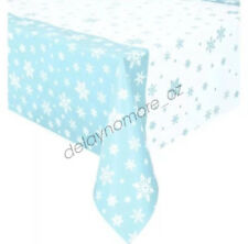 Disney Frozen Party Supplies Tablecover Snowflakes Blue Plastic Rect Tablecloth