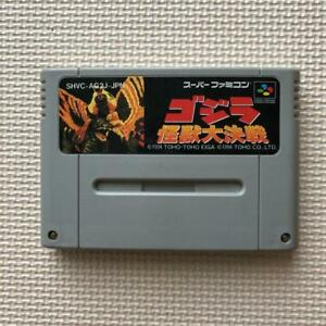 Nintendo Super Famicom Godzilla Kaiju Daikessen SFC Cartridge only Japan Import