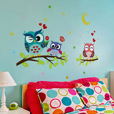 Owl Removable Waterproof Wall Sticker Kids Rooms Bedroom Home Decor Decals